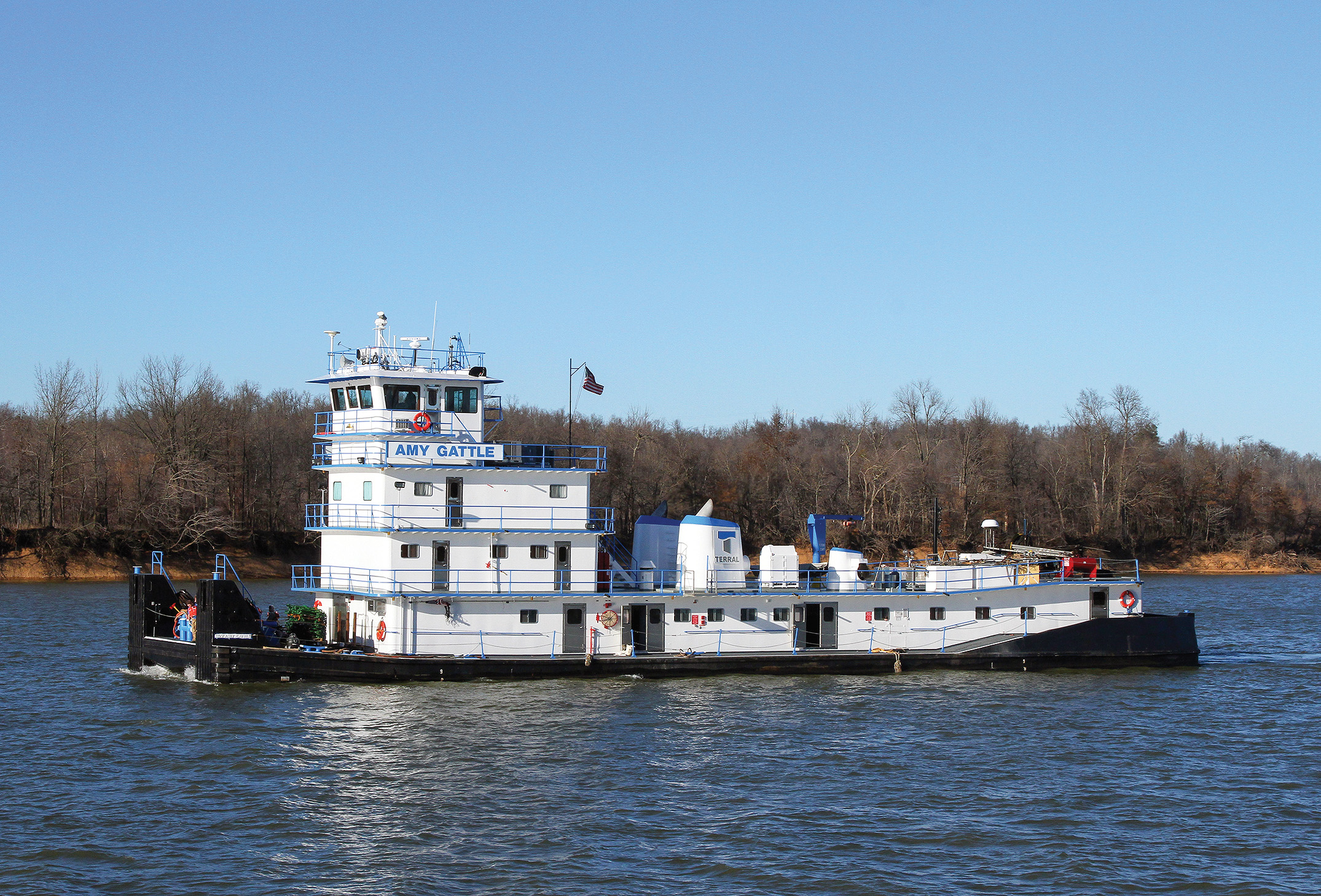 FIRST MARINE LLC REFURBS MV. AMY GATTLE
